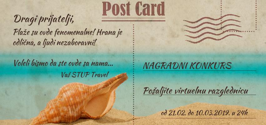 Nagradni konkurs turističke agencije Stup travel 2019 - pošaljite virtuelnu razglednicu