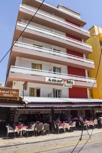 Fasada hotela Amaryllis u Rodosu u Grčkoj.