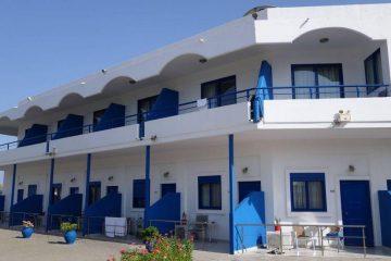 Fasada hotela Rafaelo u Rodosu u Grčkoj.